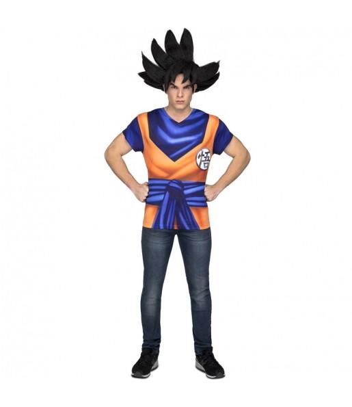 Tee shirt déguisement Son Goku Dragon Ball adulte