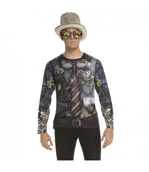 Déguisement Tee-shirt Steampunk adulte