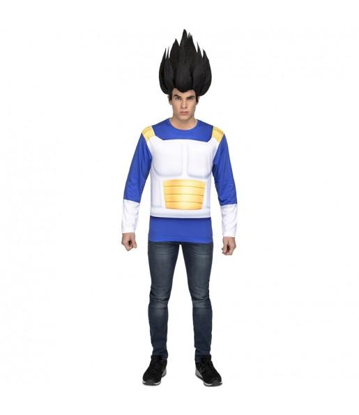 Tee shirt déguisement Vegeta Dragon Ball adulte