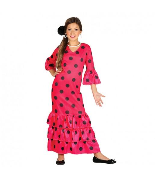 Déguisement Flamenco Sévillane Rose