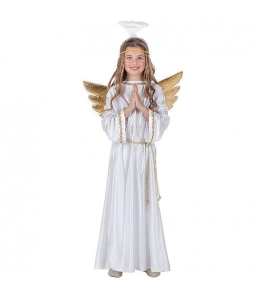Déguisement Ange Noël avec ailes fille