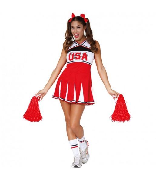 Déguisement Cheerleader USA adulte