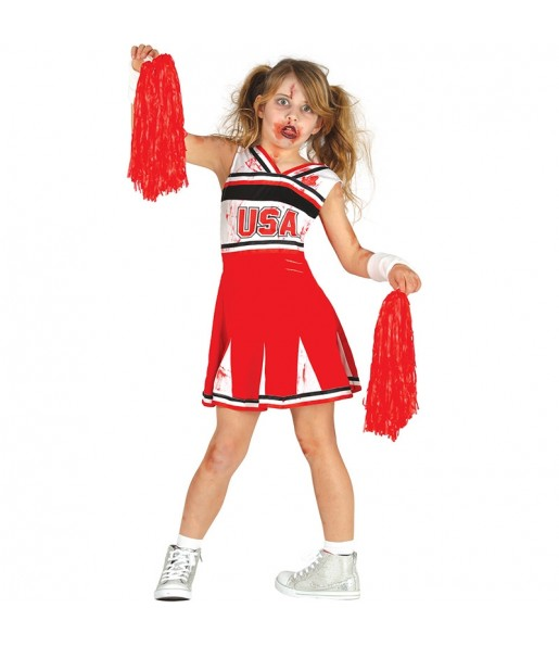 Déguisement Cheerleader Zombie fille