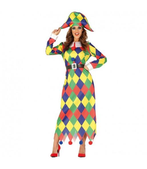 Déguisement Arlequin Multicolore femme
