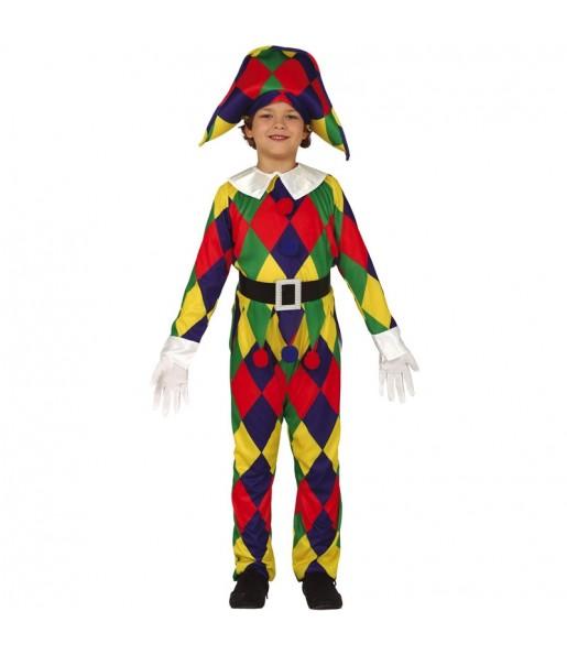 Déguisement Arlequin Multicolore garçon