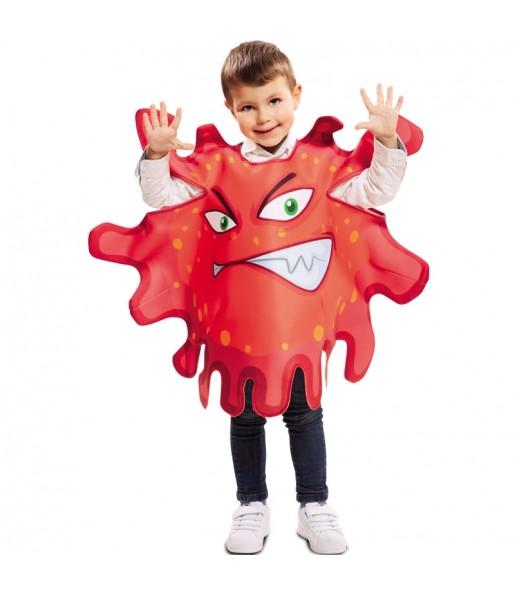 Déguisement Bactérie rouge enfant