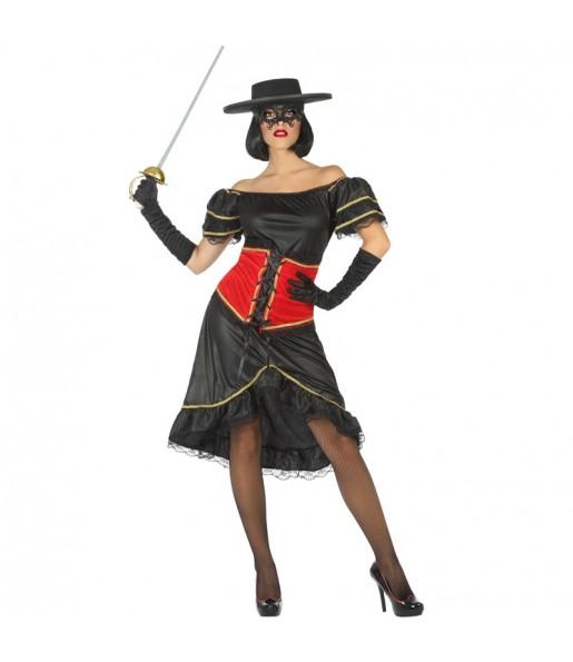 Déguisement Zorro Bandit femme