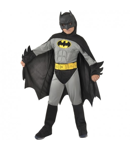 Déguisement Batman musclé gris garçon