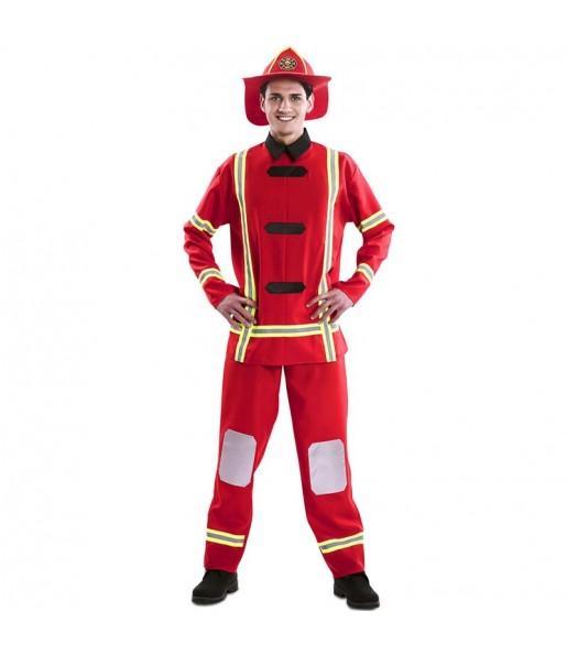 Déguisement Pompier rouge homme