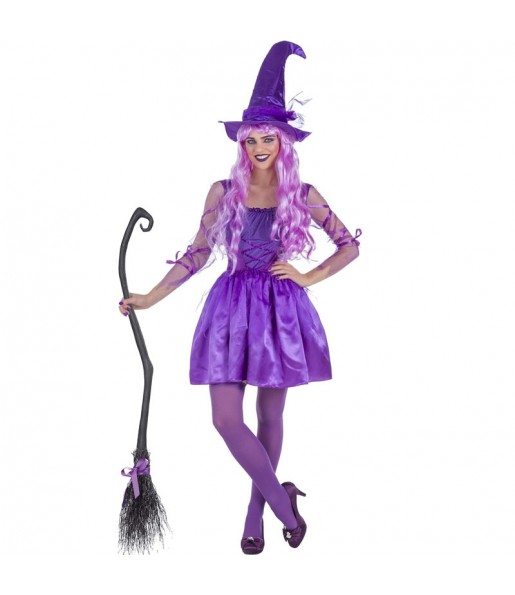 Déguisement Sorcière violette femme