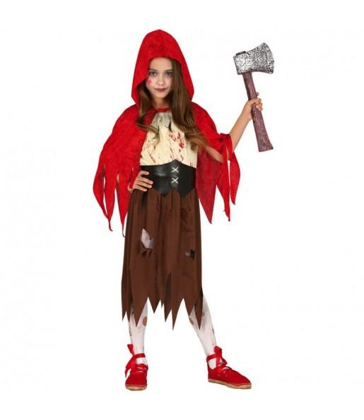 Déguisement Chaperon Rouge Zombie fille