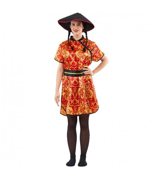 Déguisement Chinoise Grand Dragon pour femme