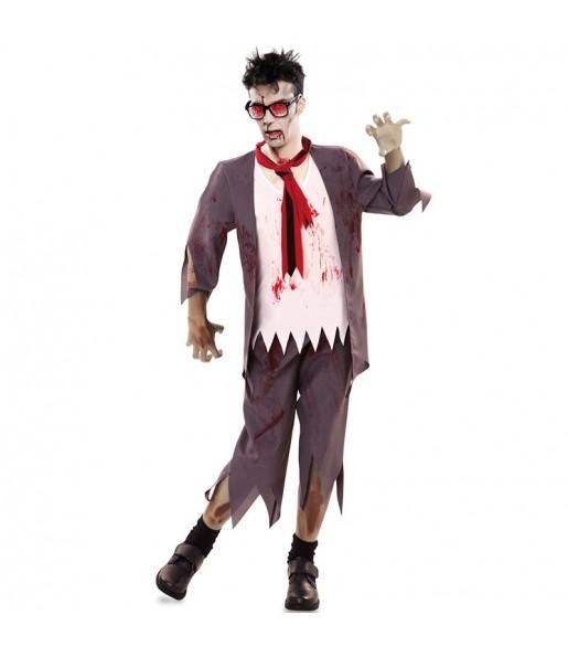 Déguisement Écolier zombie sanglant homme