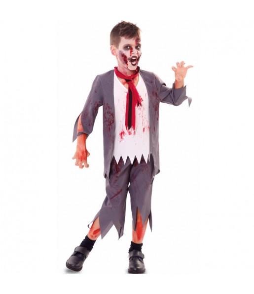 Déguisement Écolier zombie sanglant garçon