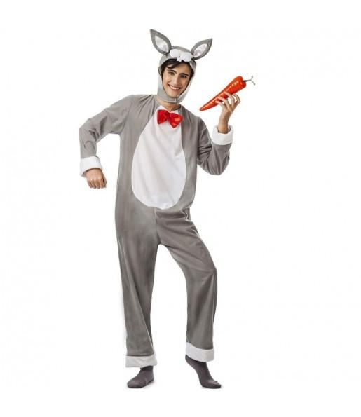 Déguisement Lapin gris homme