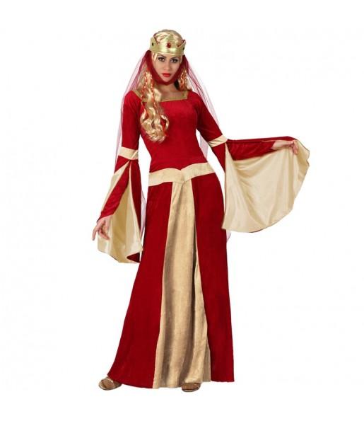 Déguisement Dame Médiévale Rouge adulte