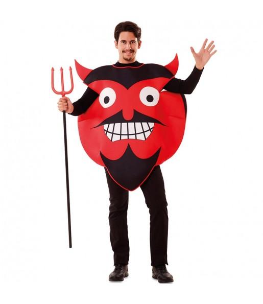 Déguisement Emoji Diable adulte