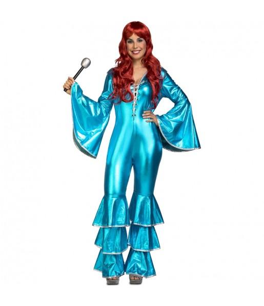 Déguisement Disco Dancing Turquoise femme