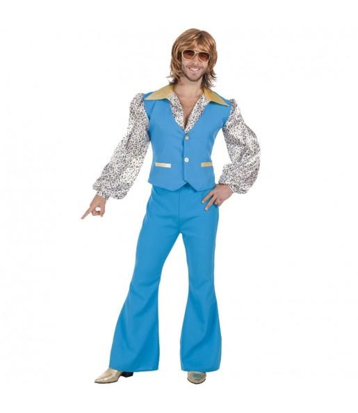 Déguisement Disco boy bleu homme