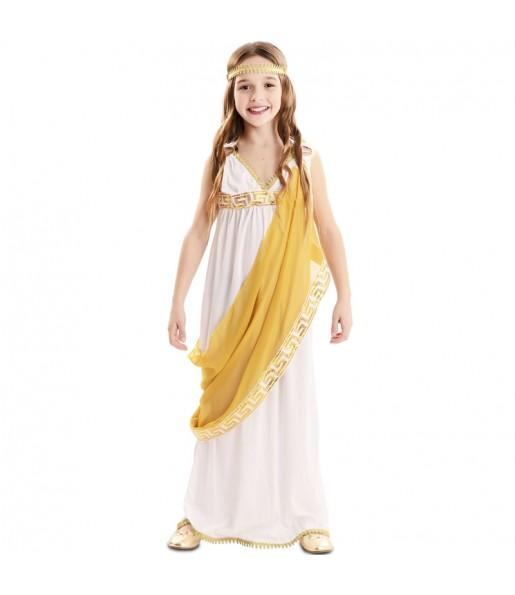 Déguisement Impératrice romaine dorée fille
