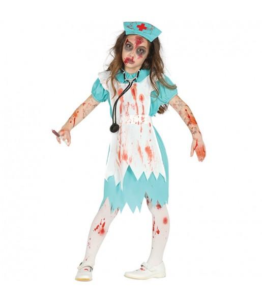 Déguisement Infirmière Zombie pour fille