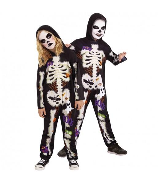 Déguisement Squelette Coloré garçon