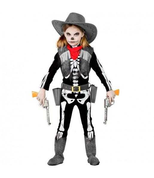 Déguisement Squelette Cowgirl fille