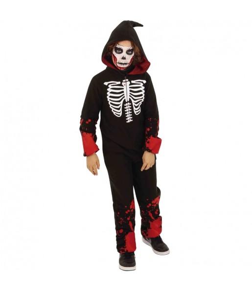 Déguisement Squelette Sanglant Kigurumi garçon
