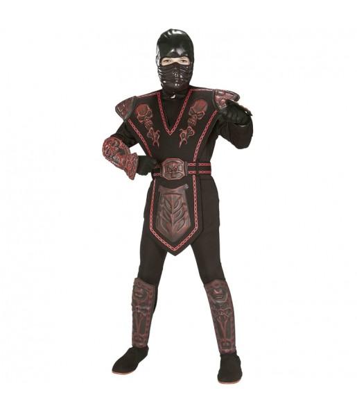 Déguisement Guerrier Ninja rouge garçon
