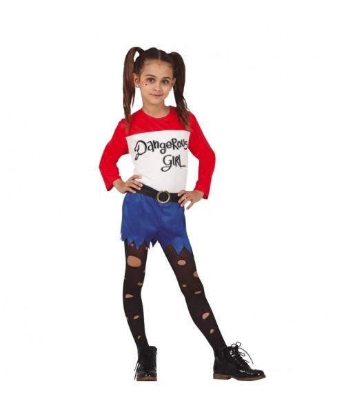 Déguisement Harley Quinn bande dessinée fille