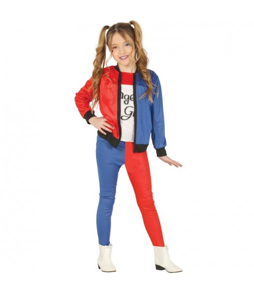 Déguisement Harley Quinn supervilaine fille