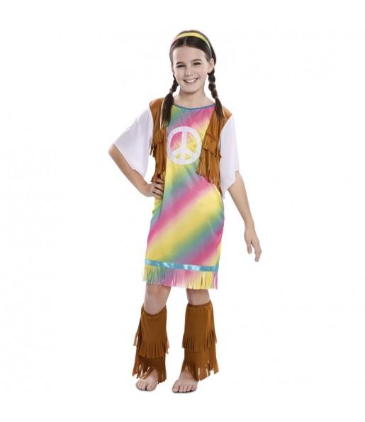 Déguisement Hippie Rainbow fille