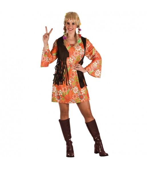 Déguisement Hippie Marron Femme