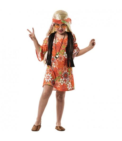 Déguisement Hippie Marron fille