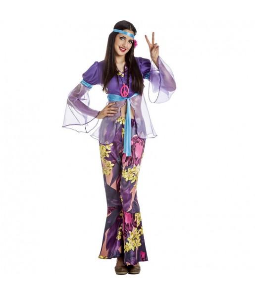 Déguisement Hippie violet femme