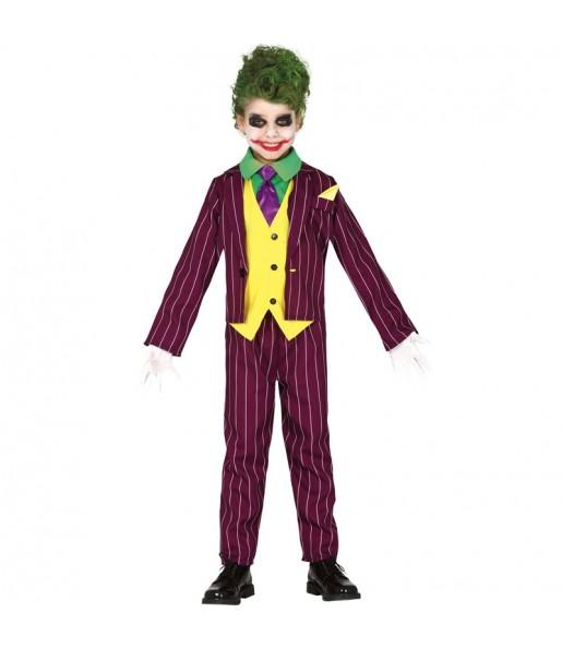 Déguisement Joker Arkham garçon