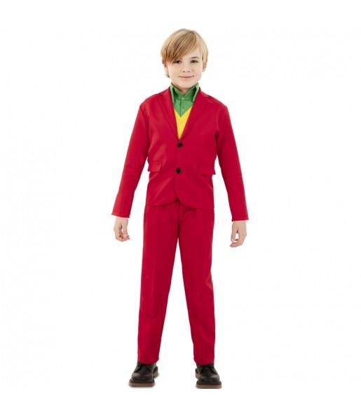 Déguisement Joker rouge garçon