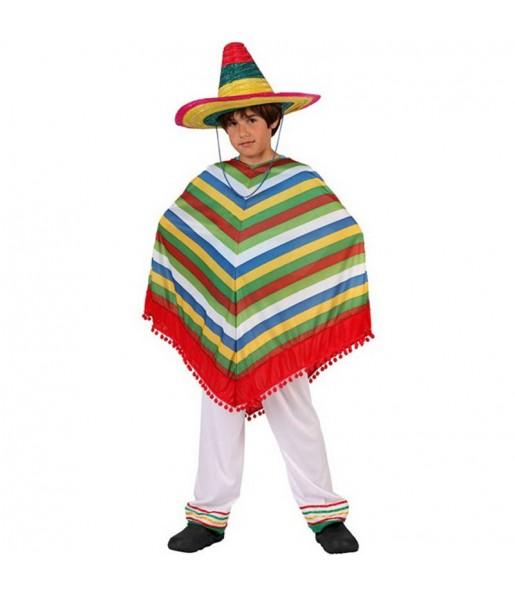 Déguisement Méxicain Multicolore garçon
