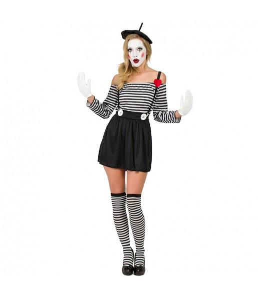 Déguisement Mime Clown pour femme