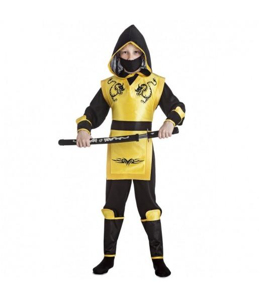 Déguisement Ninja Jaune pour garçon