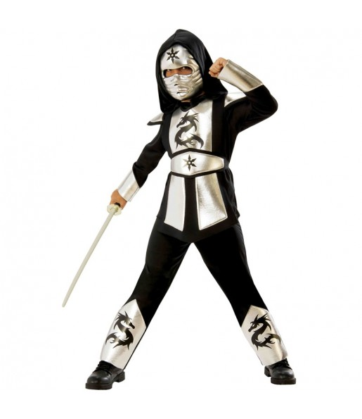 Déguisement Ninja Dragon Argent garçon
