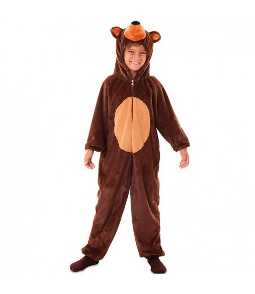Déguisement Oursin marron en peluche pour enfant