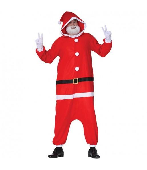 Déguisement Père Noël Kigurumi adulte