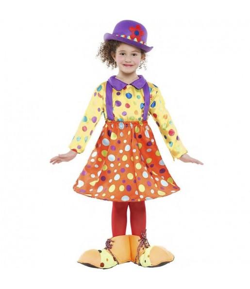 Déguisement Clown à pois fille