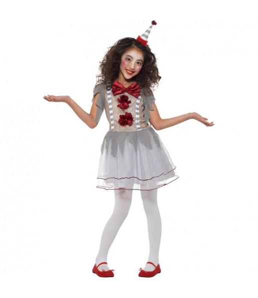 Déguisement Clown Pennywise gris fille