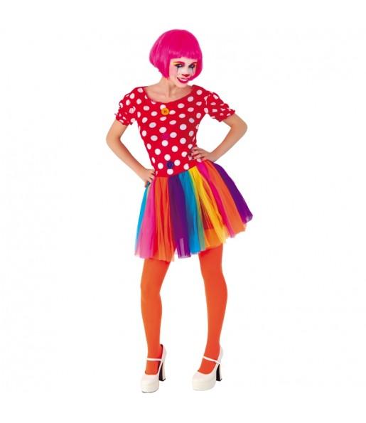 Déguisements Clown Tulle Multicolore femme