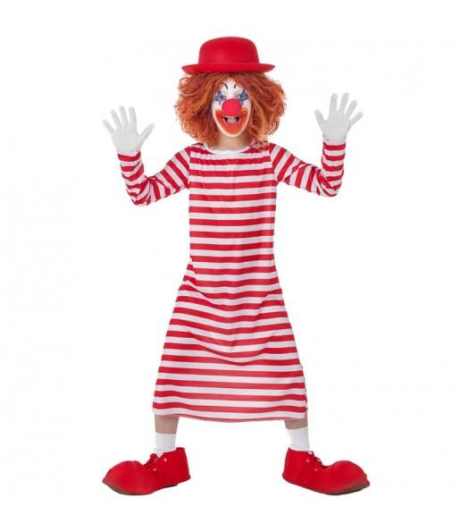 Déguisement Clown à Rayures Blanches et Rouges garçon