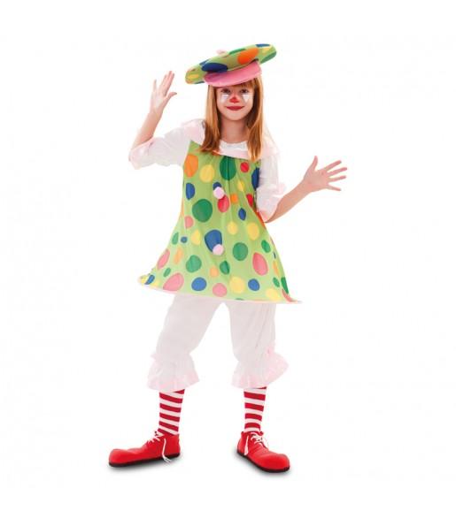 Déguisement Clown à pois pour fille