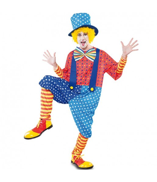 Déguisement Clown Bleu homme