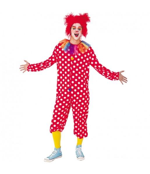 Déguisement Clown Boutons rouge adulte